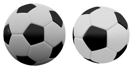 3d rendering soccer football on white background