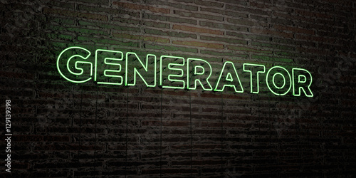 GENERATOR -Realistic Neon Sign on Brick Wall background - 3D