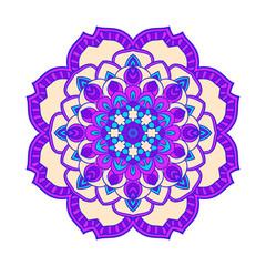 Flower Mandalas. Vintage decorative elements.