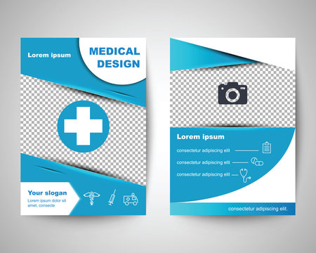 blue medical flyer layout template