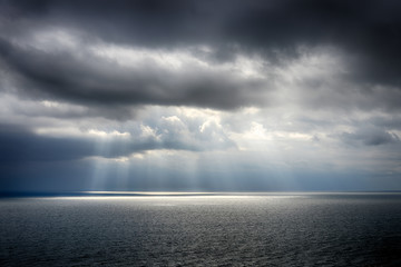 Beautiful sky over the sea after the storm. High Dynamic Range photo