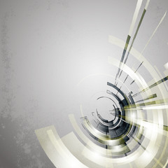 Techno Vector Circle Abstract Background