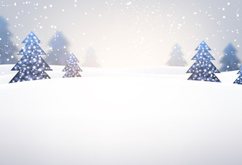 New Year background with Christmas trees.