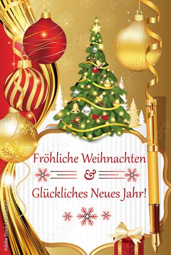Frohliche Weihnachten und Gluckliches Neues Jahr! - German greeting ...