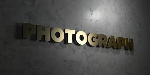 Photograph - Gold text on black background - 3D rendered royalty free stock picture. This image can be used for an online website banner ad or a print postcard.