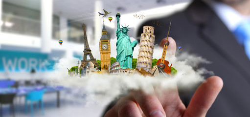 Man travelling the world