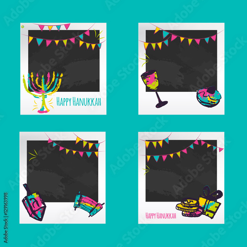 Hanukkah Photo frames. Decorative photo frame templates for events ...