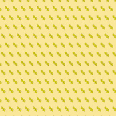 Light yellow background with symbol of dollars
