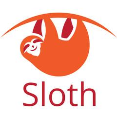 Sloth vector orange sign