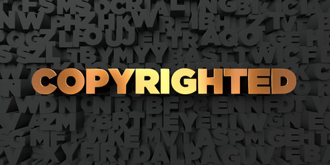 Copyrighted - Gold text on black background - 3D rendered royalty free stock picture. This image can be used for an online website banner ad or a print postcard.