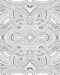 Doodle abstract pattern