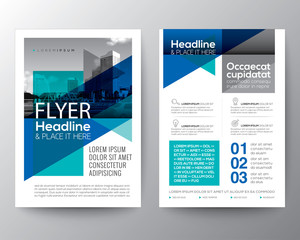 Abstract Blue geometric background for Poster Brochure Flyer design layout template