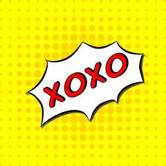 Xoxo - Comic Text, Pop Art style.