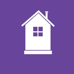 Flat icon of house