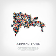 people map country Dominican Republic vector