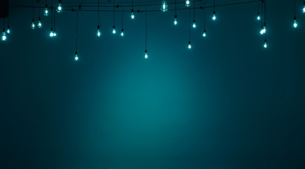 Aqua and white lamp background with space for text.