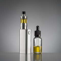 electronic cigarette over a gray background
