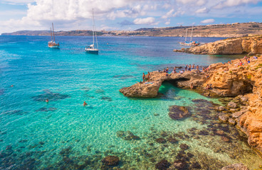 Nice blue lagoon in Malta