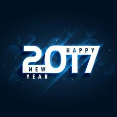 creative 2017 happy new year greeting card design