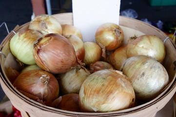 Bushel of Onions at the Farmer's Market