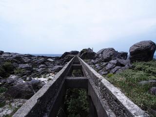 神津島 トロッコ跡 レール(東京都 神津島)