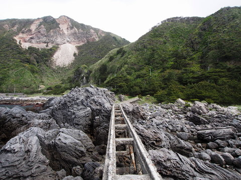 神津島 トロッコ跡 高架橋(東京都 神津島)