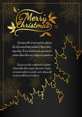 Christmas card from vector.Merry christmas in 2016.