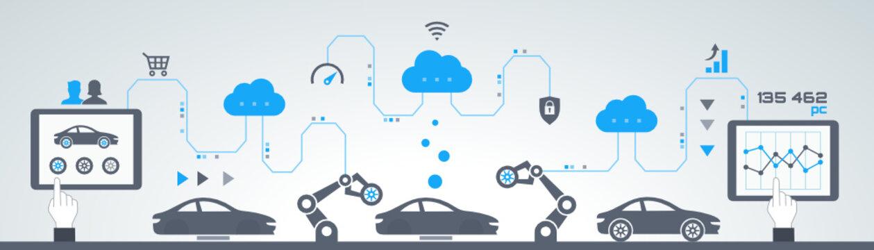 industrie 4.0 - usine du futur - car assembly line