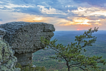 Sunset At Cheaha Overlook 3