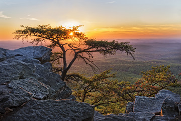 Sunset At Cheaha Overlook 1