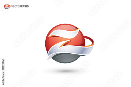 quotabstract letter z logo 3d sphere logoquot stock image and