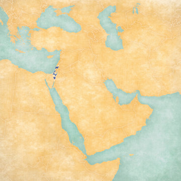 Map of Middle East - Israel