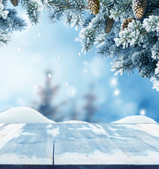 Merry christmas and happy new year greeting background