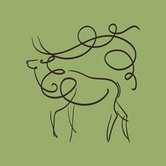 прекрасный олень