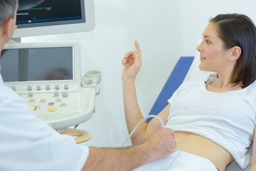 expectant mother having an ultrasound
