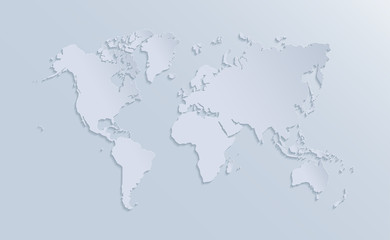 Vector world map illustration.