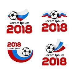 Set logo Football Championship 2018 Russia