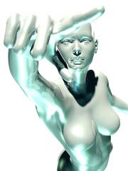 3d rendered woman illustration