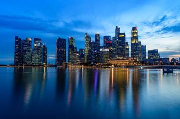 SINGAPORE - NOVEMBER 24, 2016: Downtown Urban landscape of Singa