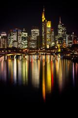 Skyline Frankfurt amMain bei Nacht