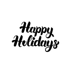 Happy Holidays Handwritten Lettering