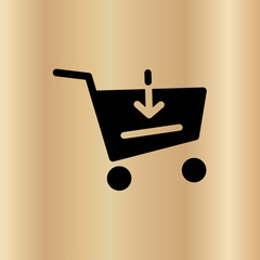 purchase cart icon. flat design