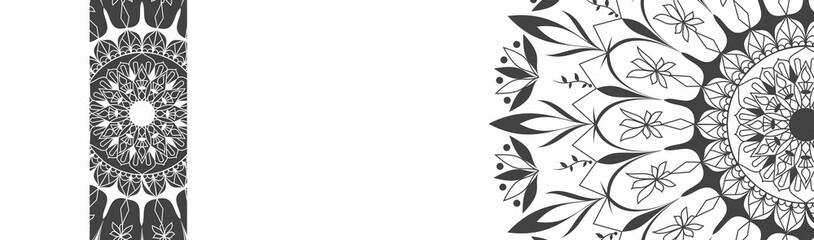 Set header banner pattern mandala