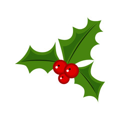 mistletoe flat icon