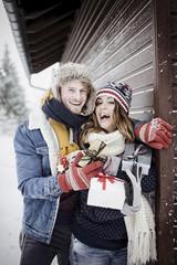Christmas love couple