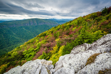 Early autumn view of the Blue Ridge Mountains from Hawksbill Mou
