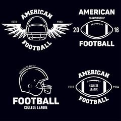 Retro Vintage American Football emblems set logos labels symbols icons and badges.