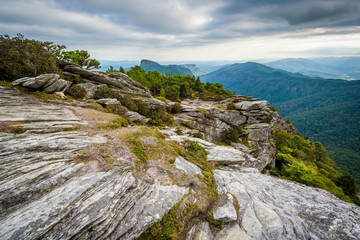 View of the Blue Ridge Mountains from Hawksbill Mountain, on the