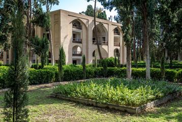Main pavilion of Historical Fin Garden in Kashan city, Iran