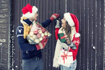 Weihnachten Besuch Feiertage